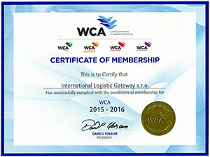 Certificate of Membership - WCA